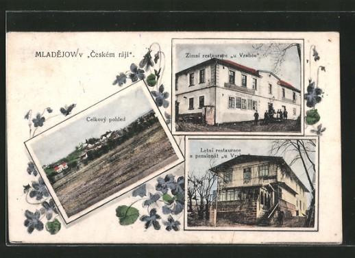 AK-Mladejov-Celkovy-pohled-Zimni-restaurace-u-Vrabce-Letni-restaurace-a-pensionat-u-Vrabce